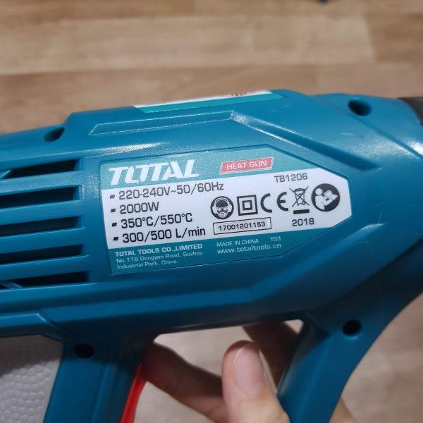 [A528] Máy Thổi Nhiệt TOTAL 2000W - TB1206