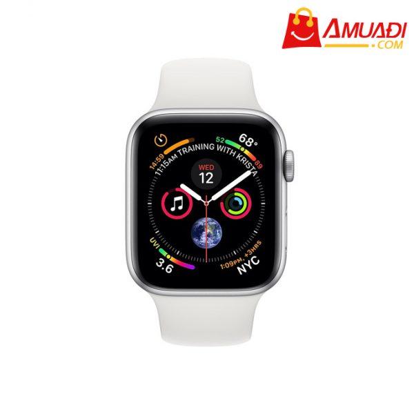 [A700] Apple Watch Series 4 GPS 40mm viền nhôm dây cao su trắng MU642VNA