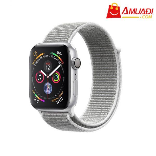 [A701] Apple Watch Series 4 GPS 40mm viền nhôm dây nylon trắng xám MU652VNA