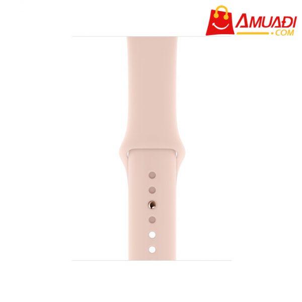 [A702] Apple Watch Series 4 GPS, 40mm viền nhôm vàng dây cao su hồng MU682VNA