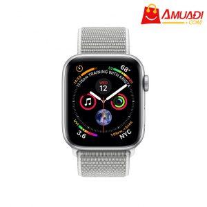 [A704] Apple Watch Series 4 GPS, 44mm viền nhôm dây nylon trắng xám MU6C2VNA