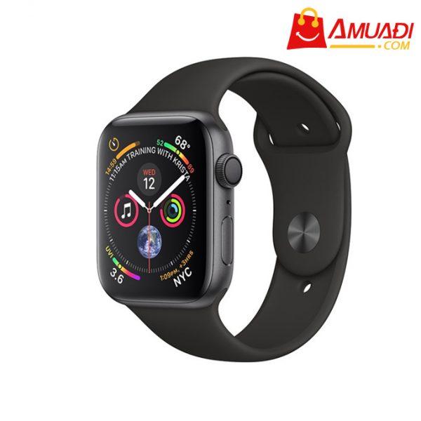 [A705] Apple Watch Series 4 GPS, 44mm viền nhôm xám dây cao su đen MU6D2VNA