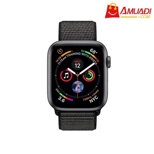 [A706] Apple Watch Series 4 GPS, 44mm viền nhôm xám dây nylon đen MU6E2VNA