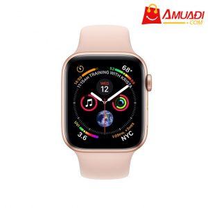 [A707] Apple Watch Series 4 GPS, 44mm viền nhôm vàng dây cao su hồng MU6F2VNA