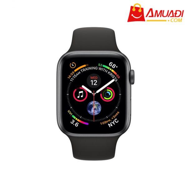 [A708] Apple Watch Series 4 GPS 40mm viền nhôm xám dây cao su đen MU662VNA