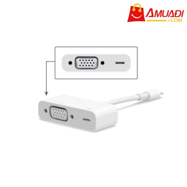 [A743] Apple Cáp Lightning to VGA Adapter