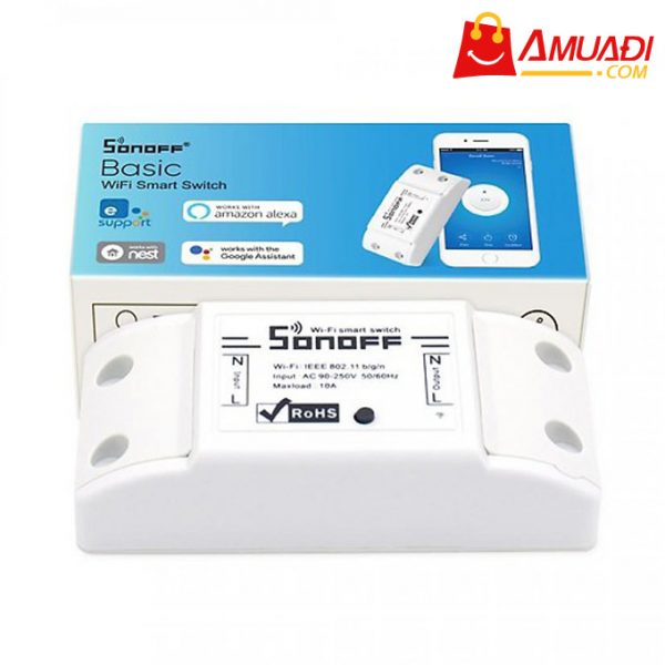 [A1046] Công Tắc Điều Khiển Từ Xa Wifi Smart Switch Sonoff Basic