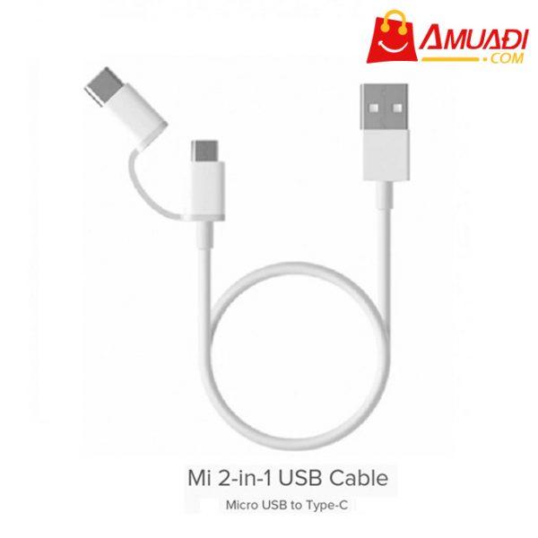 [A989] Cáp Xiaomi 2in1 Tích Hợp Micro Usb và Type-C (30CM) SJV4082TY