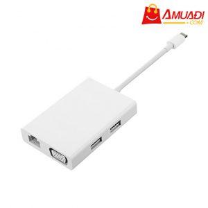 [A996] Đầu Chuyển Xiaomi USB-C ra VGA và Internet JGQ4005TY