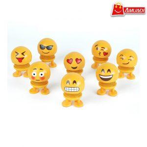 [A1185] Emoji lò xo, thú nhún, con lắc lò xo Emoji vàng V.1