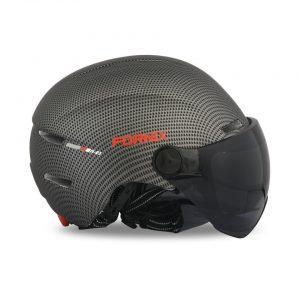 [A1211] Nón Bảo Hiểm Fornix E3 có kính chống nắng: Carbon nhám