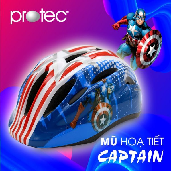 [A1222] Nón Bảo Hiểm trẻ em Protec: Captain xanh