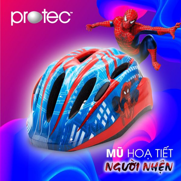 [A1219] Nón Bảo Hiểm trẻ em Protec chính hãng : Người Nhện Spiderman